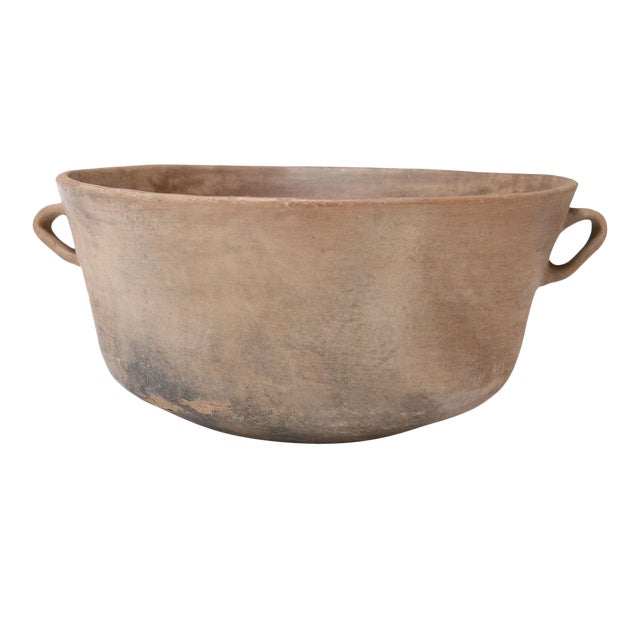 Primitive Clay Cooking Bowl For Sale