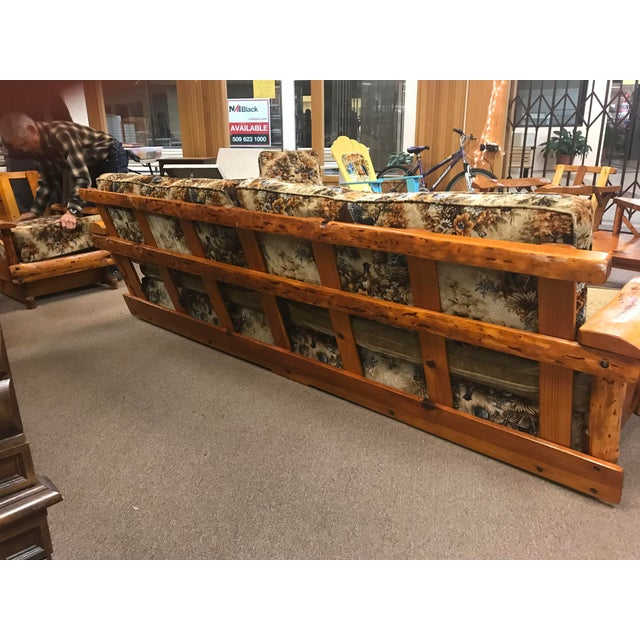 C. Selden Belden Pinecraft Furniture Lodge Style Sofa For Sale - Image 4 of 8