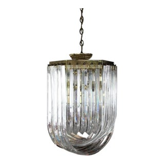 Bent Lucite Mid-Century Modern Large Light Fixture For Sale