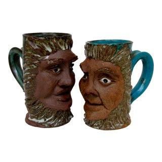 Decorative Ceramic Mugs, A Pair