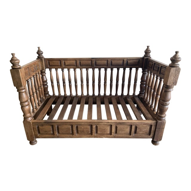 Early 20th Century European Wood Daybed Frame For Sale