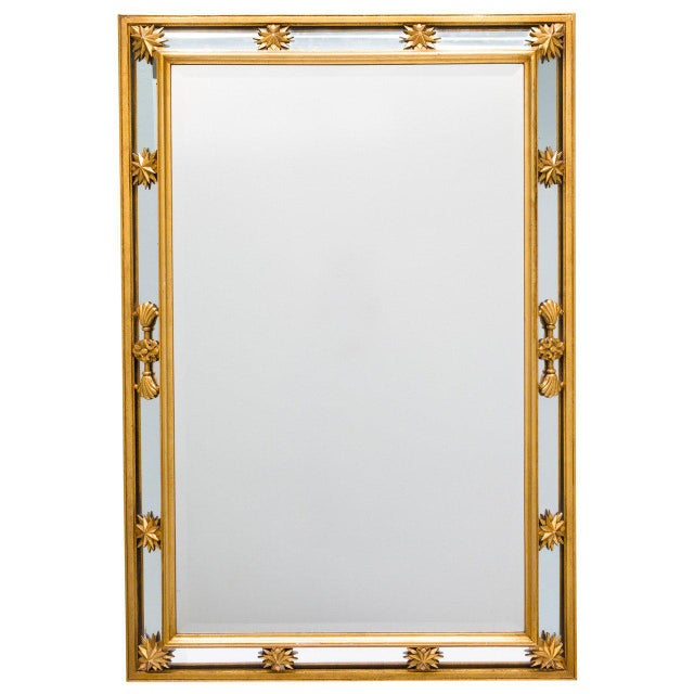 Gold Neoclassical Style Star Mirror For Sale - Image 8 of 8