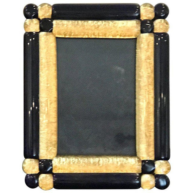 Cobalt and Gold Infused Murano Glass Picture Frame For Sale - Image 9 of 9