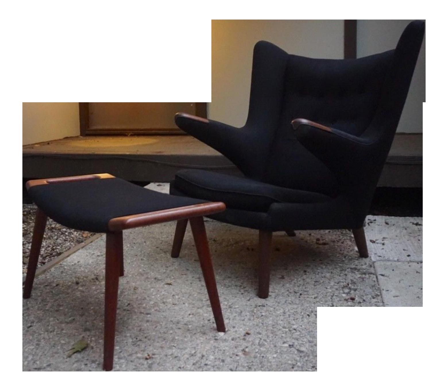 Hans Wegner Papa Bear Chair U0026 Ottoman