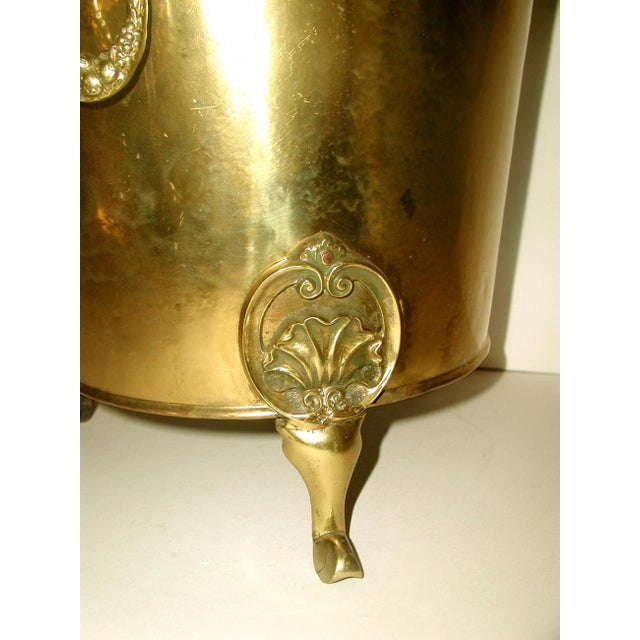 English Early 1900's Brass Coal Hod - Image 3 of 10