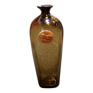 Mitchell Gaudet Art Glass Bottle Vase (New Orleans) (20th Century) For Sale