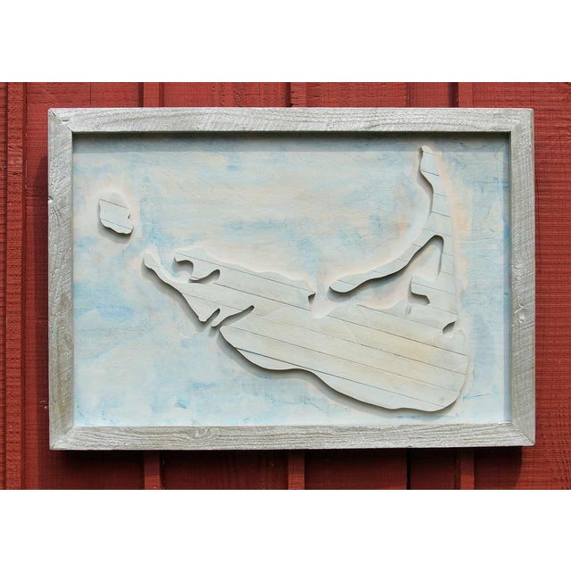 Wood Nantucket Reclaimed Wood Handcrafted Wall Art For Sale - Image 7 of 7
