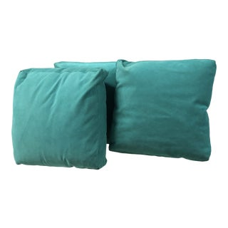 Turquoise Accent Pillows - Set of 3 For Sale