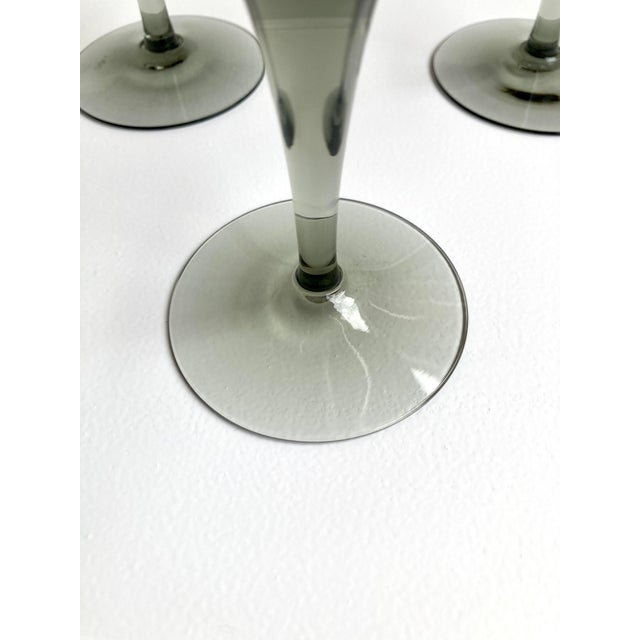 Orrefors Rhapsody Smoke Champagne Coupes - Set of 3 For Sale In Seattle - Image 6 of 7