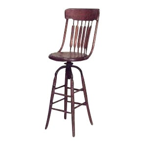 American Victorian Bookkeepers Swivel Chair For Sale