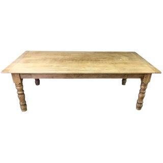 Italian Bleached Cherry Farmhouse Table For Sale