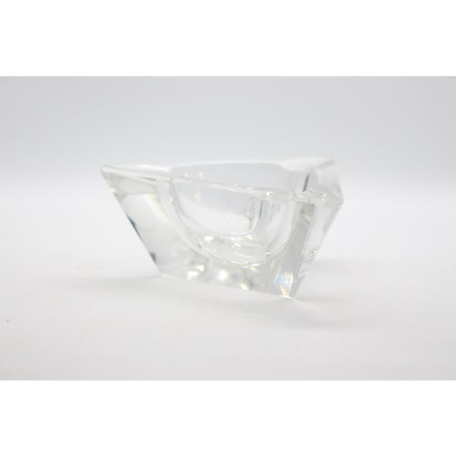 Crystal Geometric Lead Crystal Ashtrays - A Pair For Sale - Image 7 of 11