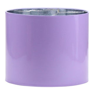Large High Gloss Lavender Drum Lampshade For Sale