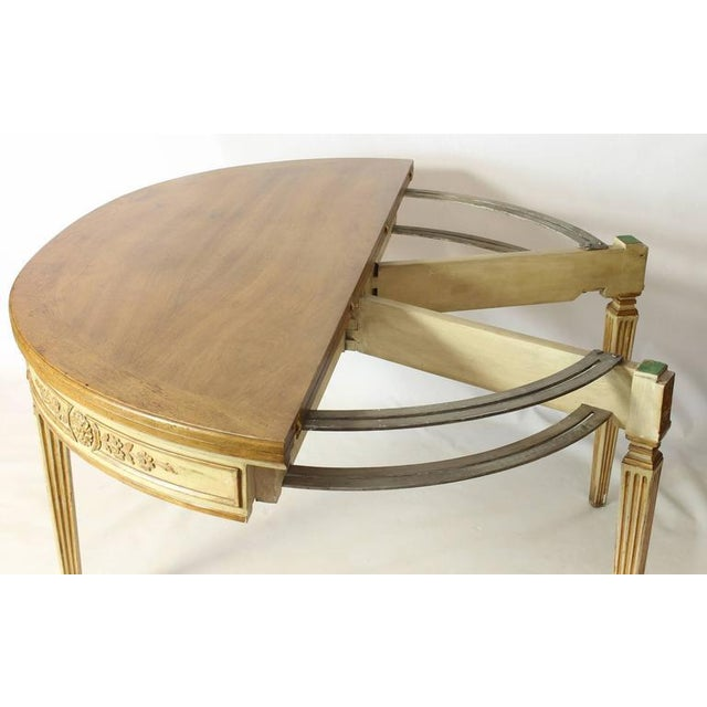 Brown Neoclassical Folding Demilune Table For Sale - Image 8 of 10