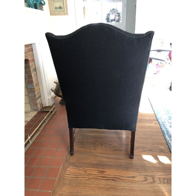 Traditional 1930s Vintage Reupholstered Wing Chair For Sale - Image 3 of 7