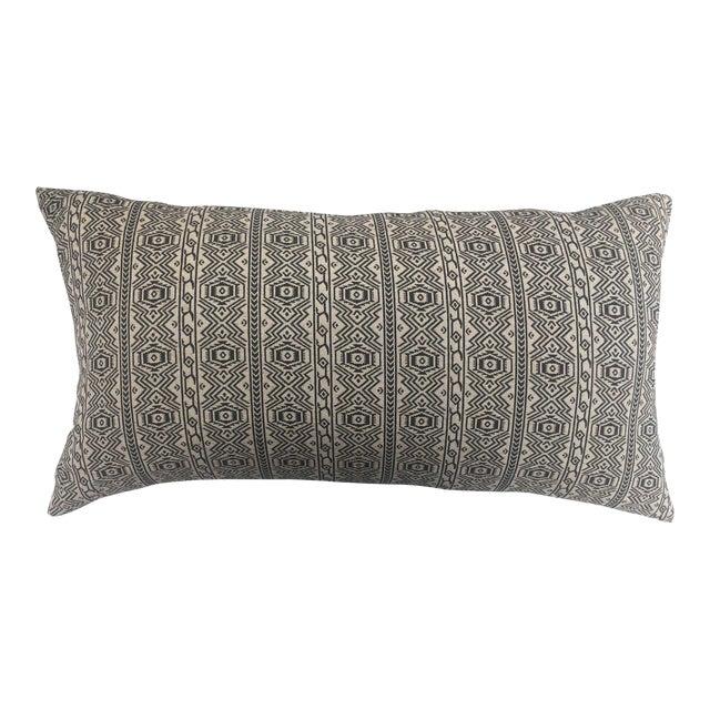 Black & White Tribal Textile Pillow - Image 1 of 4