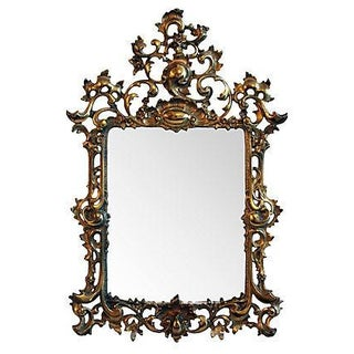 Cast Brass Ornate Mirror