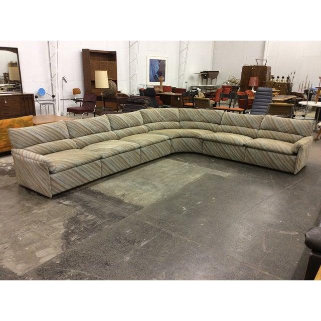 Tan Saporiti Italia Six-Piece Sectional Sofa For Sale - Image 8 of 11