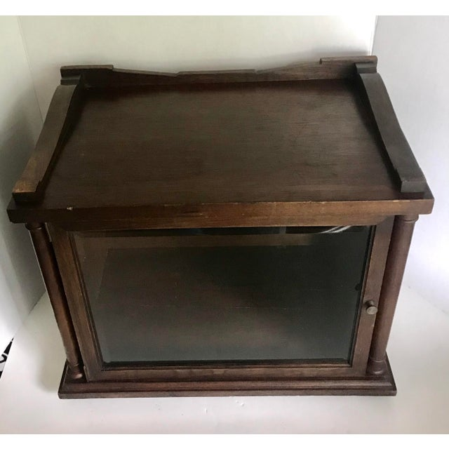 Antique Wood and Glass Display Cabinet For Sale In Los Angeles - Image 6 of 10