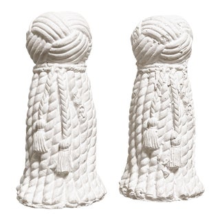 1970s Vintage Rope & Tassel Candlesticks - a Pair For Sale