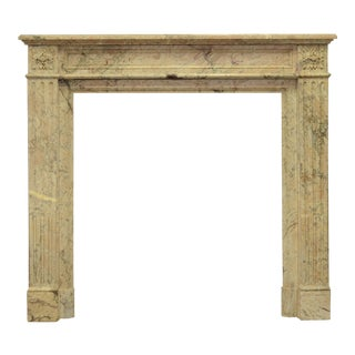 Petite Louis XVI Fireplace Mantel in Beautiful Escalette Marble