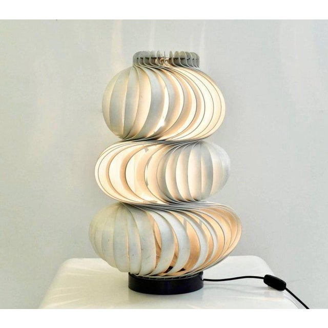 "Aluminum Two Olaf von Bohr ""Medusa"" Lamps, Valenti Editions, Italy, 1968 For Sale - Image 7 of 7"
