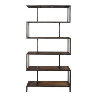Iron and Wood Etagere For Sale