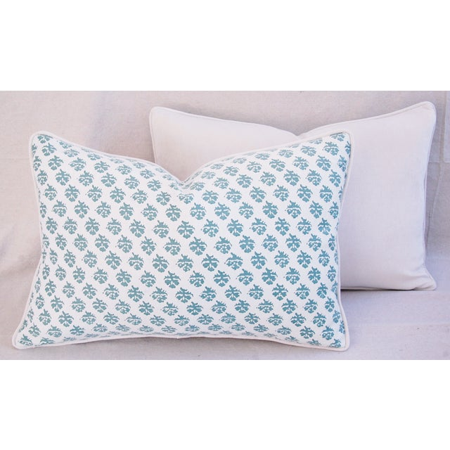Custom Tailored Designer Italian Fortuny Persiano Pillows - A Pair For Sale - Image 10 of 11