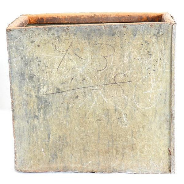 Contemporary Pair of Antique Wood & Metal Boxes For Sale - Image 3 of 7