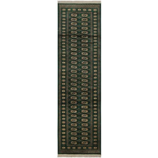 Bokara Arya Rana Green/Ivory Wool Rug - 2'8 X 9'7 For Sale