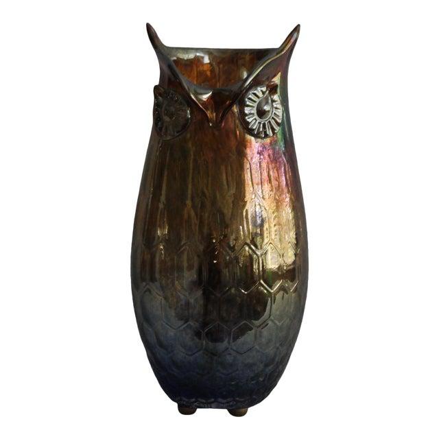 Vintage Mid Century Modern Art Glass Owl For Sale