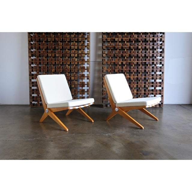 Scissor Lounge Chairs by Pierre Jeanneret for Knoll International - a Pair For Sale In Los Angeles - Image 6 of 12