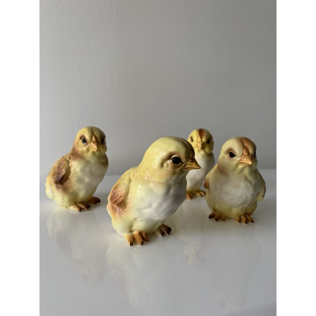 Ceramic Early 20th Century Lefton Porcelain Baby Chick Figurines - Set of 4 For Sale - Image 7 of 7