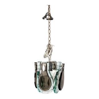 Fontana Art Pendant Light with Tear Drop Glass Panels