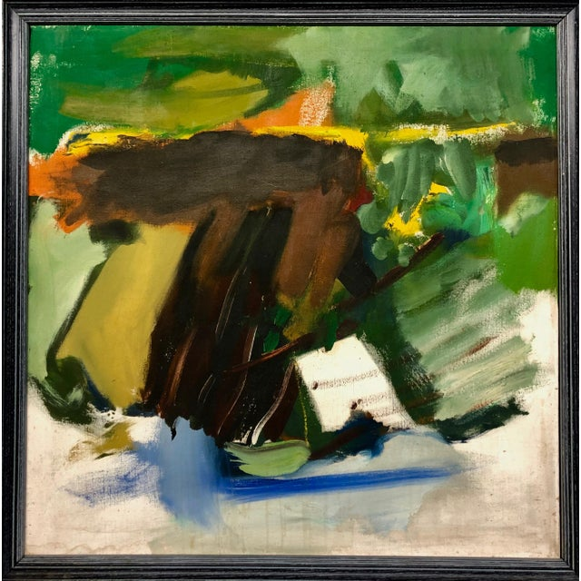 1960s Vintage Abstract Framed Painting For Sale