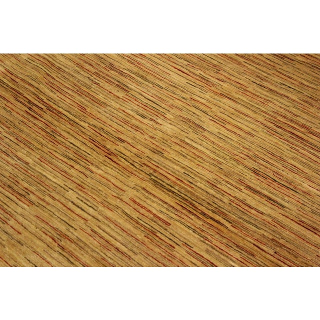 Textile Gabbeh Jacqueline Tan/Rust Wool Area Rug -4'3 X 5'9 For Sale - Image 7 of 8