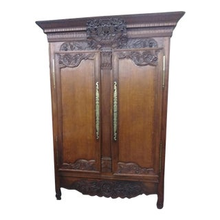 19th Century Normandy Armoire For Sale