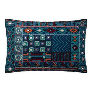 """Justina Blakeney X Loloi Blue / Multi 13"""" X 21"""" Cover with Down Pillow For Sale"""