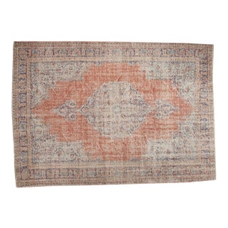 "Vintage Distressed Oushak Carpet - 6'2"" x 8'10"""