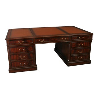 New Desk English Style Rich Mahogany Antiqued For Sale
