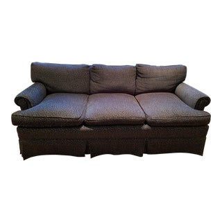 1990s Three Seat Rolled Arm Sofa For Sale