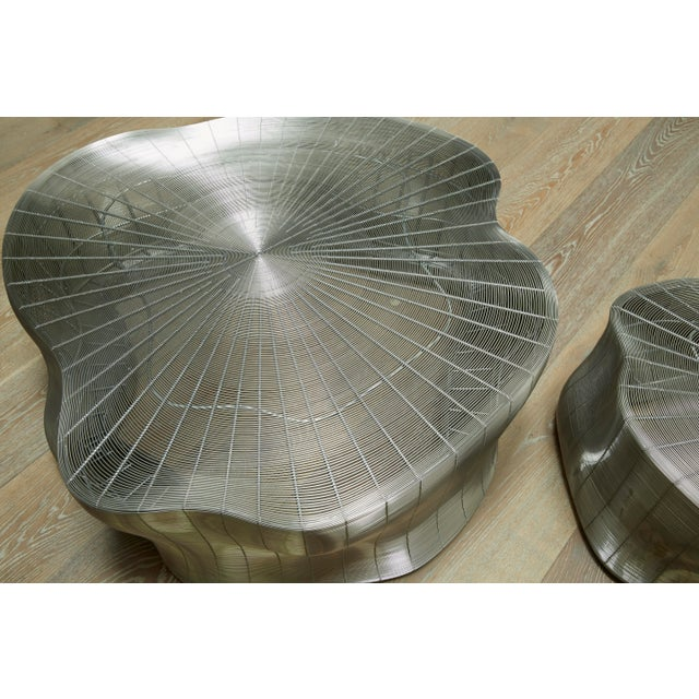 Abstract Modern Roche Bobois Iron Tree Cocktail Table Large For Sale - Image 3 of 4