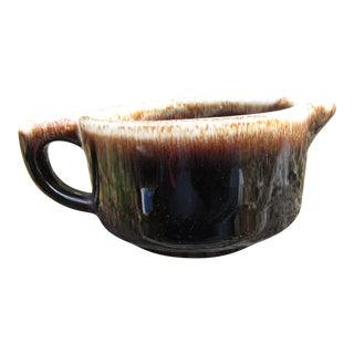 1950s Boho Chic Drip Glaze Stoneware Creamer For Sale