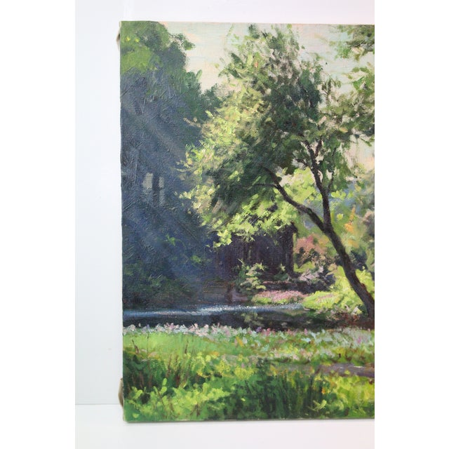 Mid 20th Century Caddell Spring Forest Painting by Foster Caddell For Sale - Image 5 of 7