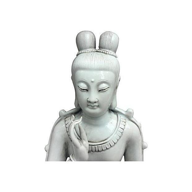 Blanc De Chine Seated Buddha - Image 5 of 6