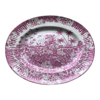 1897 United Wilson Porcelain Plate With Palm Trees** For Sale