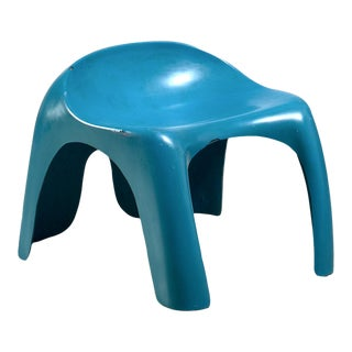 Blue Polyester Stacy Dukes Stool, Usa, 1960s For Sale