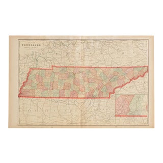 Cram's 1907 Map of Tennessee