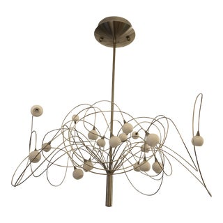 20 Light Snowball Chandelier by Harco Loor For Sale