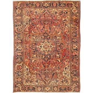 Keivan Woven Arts, H-711-03, Vintage Persian Heriz Runner- 8′1″ × 11′1″ For Sale